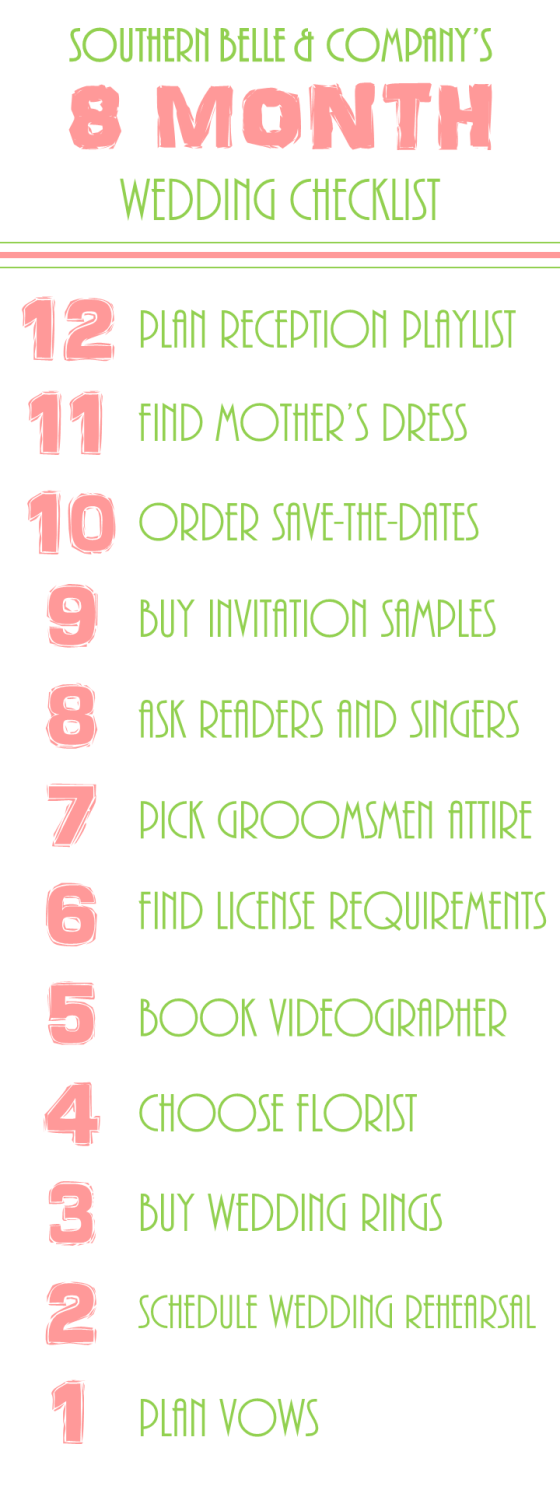 Wedding Checklist 8