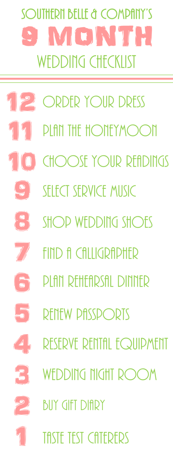 Wedding Checklist 9