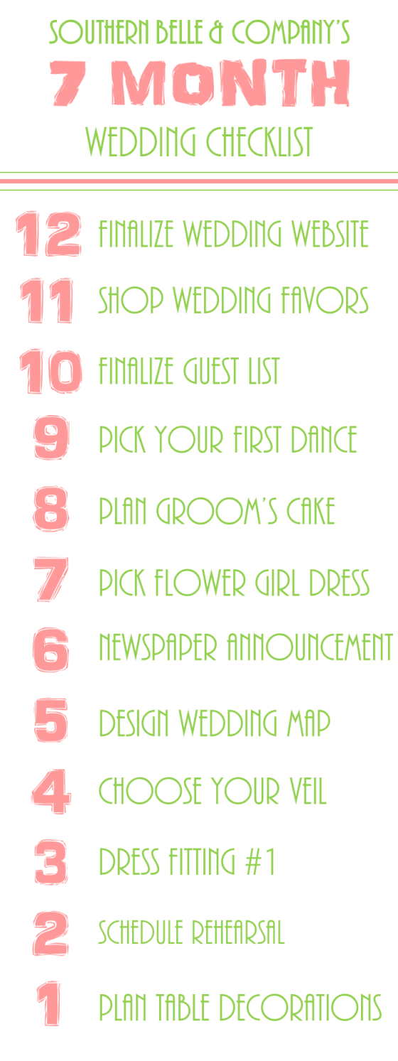 Wedding Checklist 7