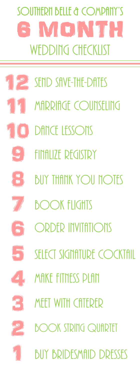 Wedding Checklist 6